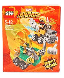 Lego Marvel Super Heroes Mighty Micros Thor Vs Loki Building Set - 79 Pieces