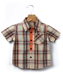 Beebay - Half Sleeves Checked Shirt