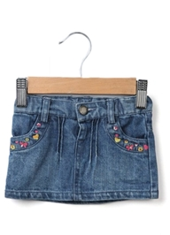 Beebay - Embroidered Denim Skirt