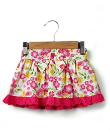 Beebay - Bow Skirt With Lace - 6 - 12 Months