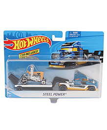 Hot Wheels Steel Power With Racing Car - Blue