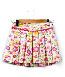Beebay - Pleated Floral Print Skirt