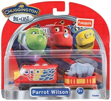 Chuggington  - Parrot Wilson With Rhino Car Die Cast Vehicle