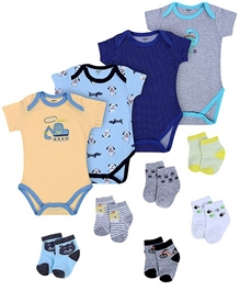 Carters - Combo Pack Of 4 Onesies And 6 Socks
