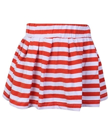 SAPS - Pleated Skirt With Stripes