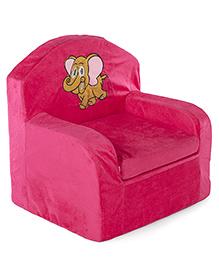 Lovely Kids Sofa Chair Elephant Embroidery - Fuchsia