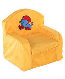 Lovely Kids Sofa Chair Puppy Embroidered - Yellow
