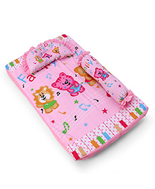 3 Piece Baby Bedding Set Family Day Print - Pink