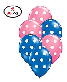Party Propz Polka Dot Balloons- Set Of 30