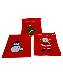 Party Propz Christmas Santa Sack Red - Pack Of 3