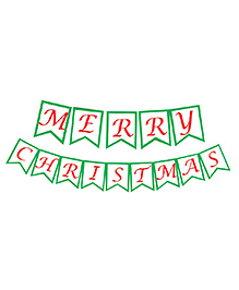 Party Propz Merry Christmas Banner - Green & Red