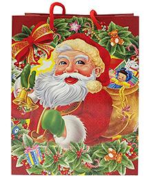 Party Propz Christmas Return Gift Bag Santa Design Red - Set Of 6