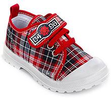 Cute Walk - Checks Print Canvas Shoes