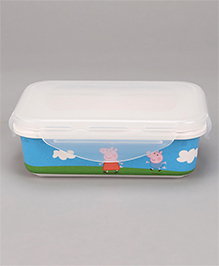 Servewell Peppa Pig Lunch Box With Fork -  Blue White