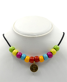 Magic Needles Necklace With Charm Design - Multi Color