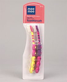 Mee Mee Baby's First Toothbrush Yellow Pink - Pack Of 2