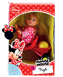 Simba Evi Love Minnie Mouse Tricycle Doll - 12 cm