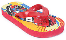 Feet & Toes - Car Print Flip Flop Red