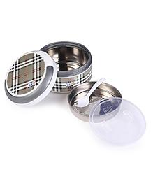 SKI Plastoware Insulated Lunch Box With Handle - White Grey