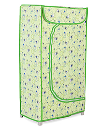 Storage Unit With 3 Shelves Floral Print - Green