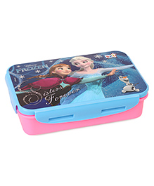 Disney Frozen Lunch Box With Spoon & Fork - Pink Blue
