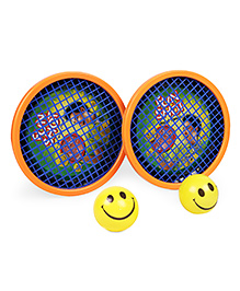 Ratnas Fun Shot Hand Tennis Set - Orange Yellow