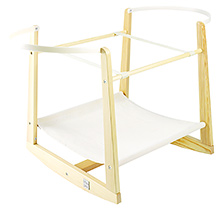 Lollipop Lane -  Rocking Moses Basket Stand Natural