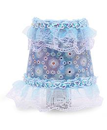 Night Lamp Flower Print - Sky Blue
