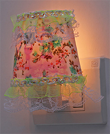 Night Lamp Flower Print - Light Green