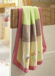 Lollipop Lane Pumpkin and Popsicle Knitted Blanket