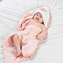 Lollipop Lane Pink Bird Cuddle Robe and Wash Mitt