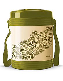 Milton Vector Lunch Box With 3 Stainless Steel Containers Green  - 240 Ml