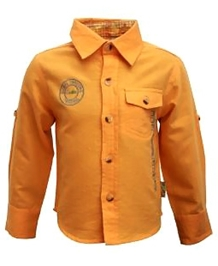 Gron - Full Sleeves Orange Shirt