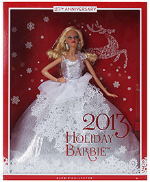 2013 Holiday Barbie Doll White 6 Years+, 29 cm, Annual tradition doll with elegant holiday inspired gowns