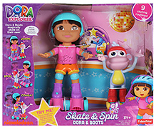 Dora The Explorer - Dora And Boots Skates And Spin Toy Set - 3 Years+