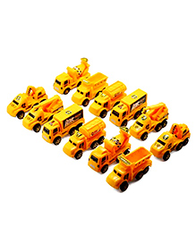 Party Propz Engineering Construction Vehicles Toys Yellow - Pack Of 12