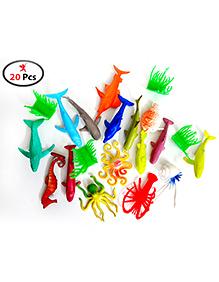 Party Propz Ocean Animals Figures Multicolor - Pack Of 20