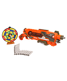 Mitashi Bang Crane Gun With 20 Foam Bullets Orange - Length 48.5 Cm