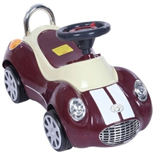 Fab N Funky Car Shape Manual Ride On - Dark Red