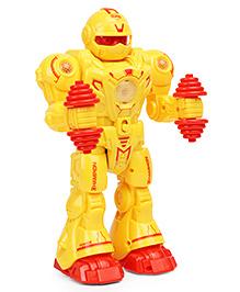 Mitashi Skykidz Gymmy Robot Musical Toy Yellow - Height 27 Cm
