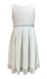 Herberto -  Sleeveless Pleated Lace Frock