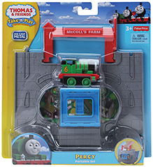 Die Cast Metal Percy Portable Toy Set Blue 3 Years+, 6.5 X 3 X 4 Cm,  Flip And Snap Engine To Go From Tunnel To...