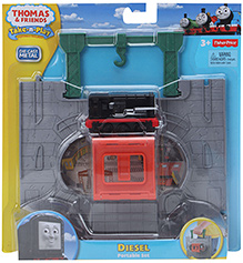 Die Cast Metal Diesel Portable Toy Set Red 3 Years+, 7 X 3 X 4 Cm, Flip And Snap Engine To Go From Tunnel To Storage