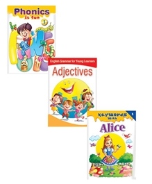Macaw - Pack Of 3 Phonics Is Fun - English Grammer For Young Learners Adjectives - Keywords With Alice