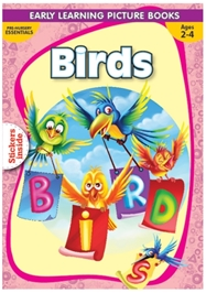 Macaw - Pre-Nursery Birds With Sticker Inside