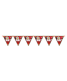 Party Propz Christmas Penent Bunting Decoration - Red