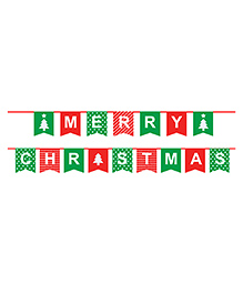 Party Propz Merry Christmas Bunting - Red Green