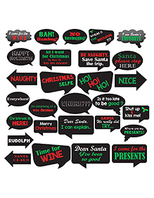 Party Propz Christmas Photo Booth Props - 27 Pieces