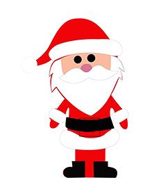 Party Propz Santa Claus Cutout - Red - 2450516