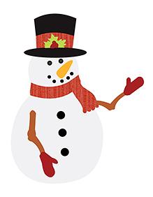 Party Propz Christmas Snow Man Cutout - White